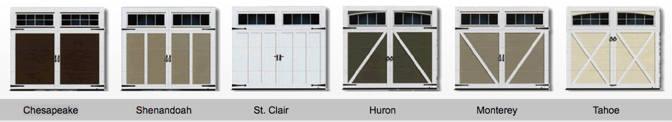 Along With Our Own Taylor Door Models We Offer, Amarr, Cloplay, Jeld Wen,  Safeway, Liftmaster And CHI Garage Doors.